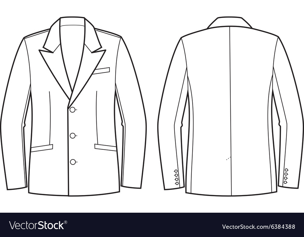 Men business jacket vector