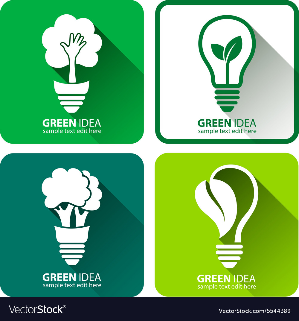 Green ideas4 vector