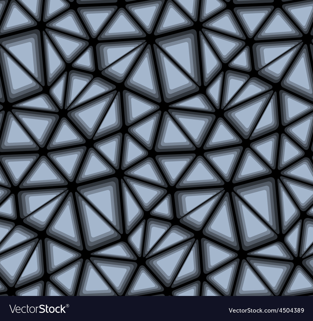 Triangular geometric mosaics seamless background vector