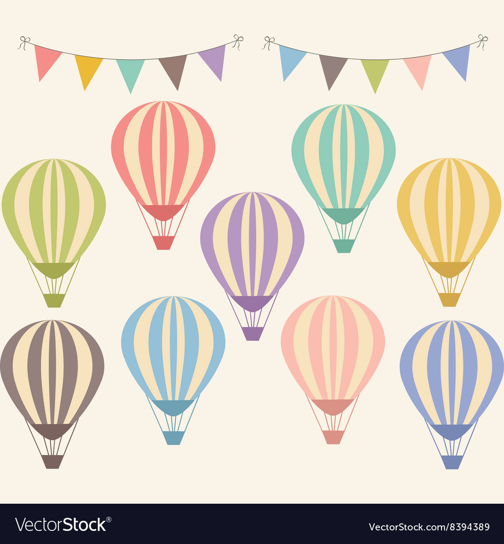 Vintage hot air balloon vector