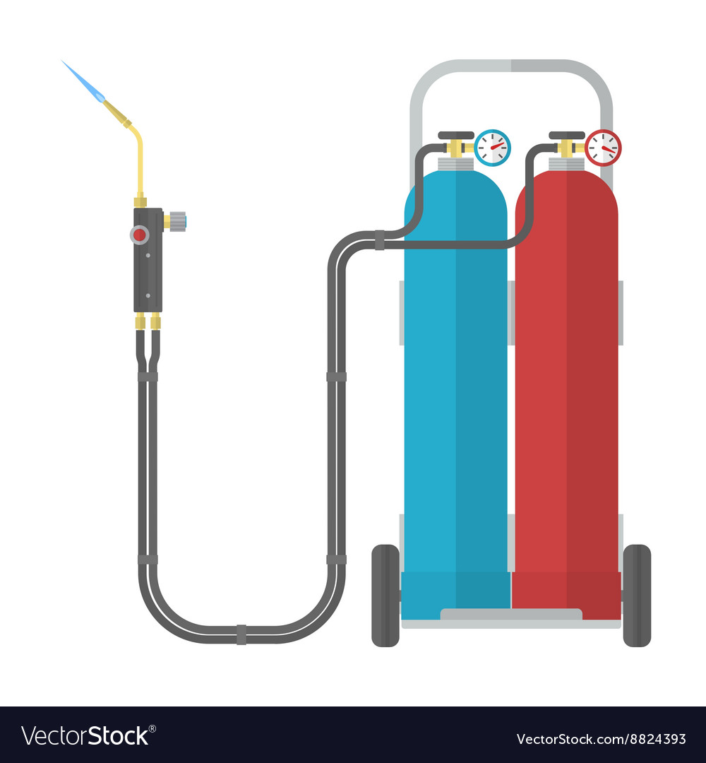 Oxy fuel welding vector
