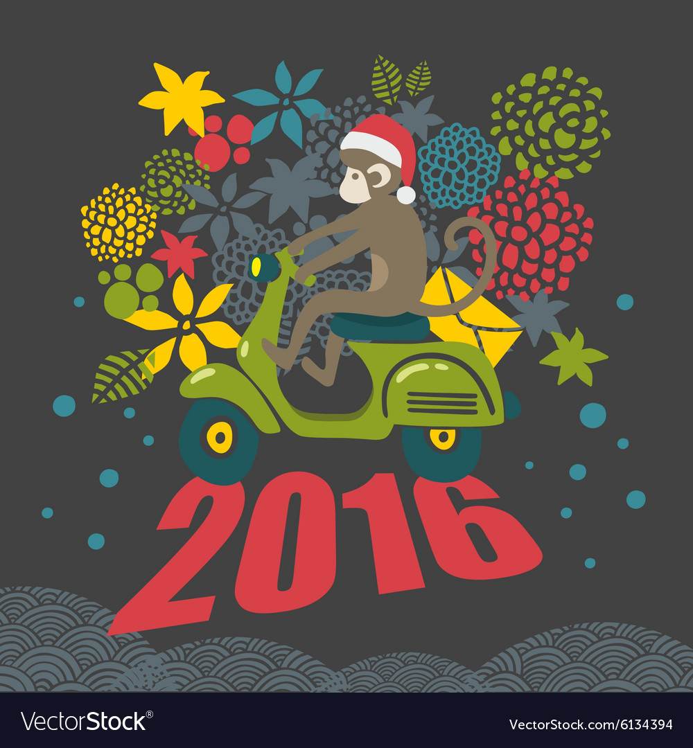 Creative of cute monkey on the vector