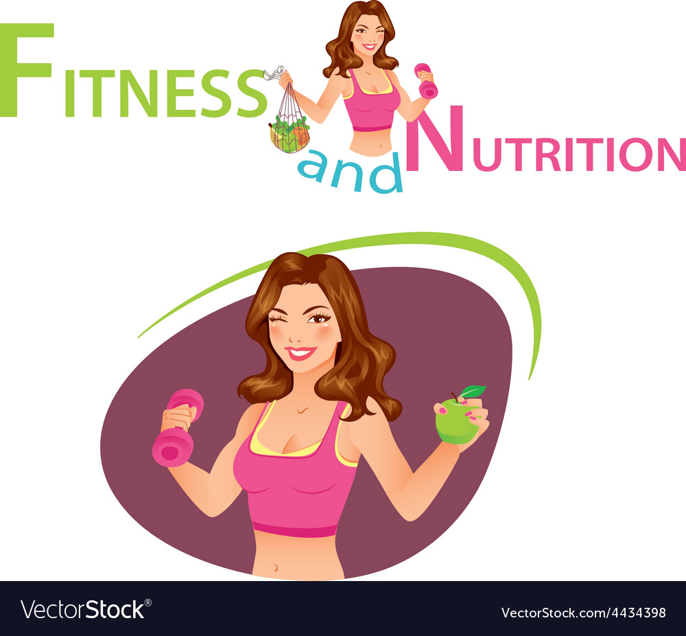 Fitness and nutrition vector