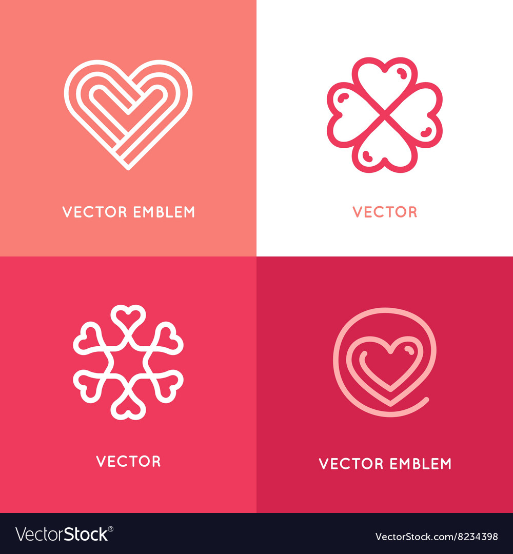 Set of logo design elements and templates vector