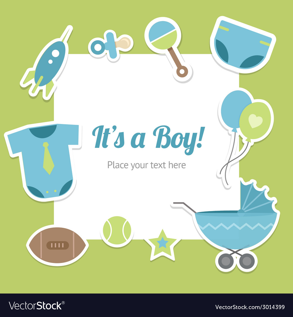 Baby boy shower design vector