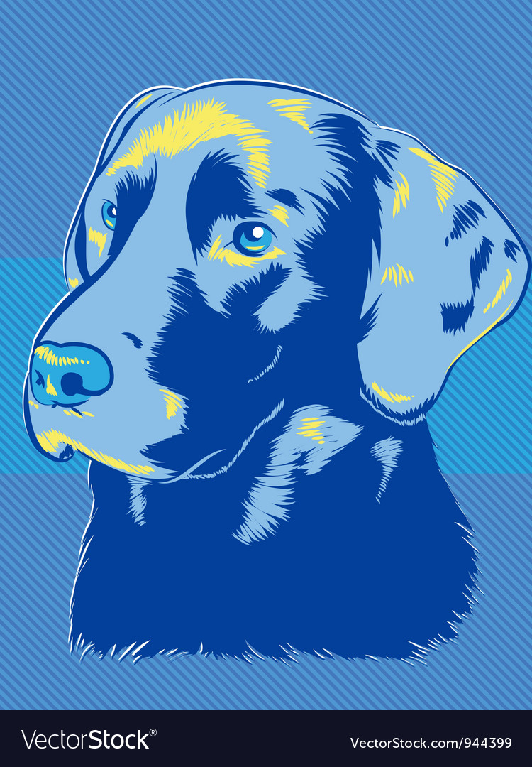 Blue dog vector