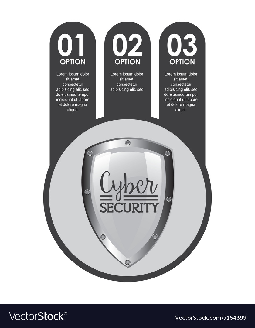 Cyber security design vector