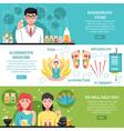 Alternative Medicine Horizontal Banners vector image