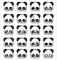 Emoticon Panda vector image vector image