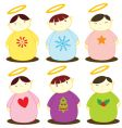 angel collection vector image vector image