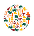 Sri-lanka country symbols color icons in circle vector image