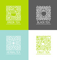set of logo design templates vector image
