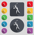 golf icon sign A set of 12 colored buttons and a vector image