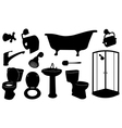 bathroom set vector image