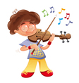 Baby musician vector image