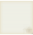 Blank sheet of old notebook vector image