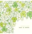Clover line art corner decor seamless pattern vector image