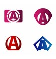 letter A logo template Abstract icon vector image