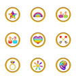 lgbt people icons set cartoon style vector image
