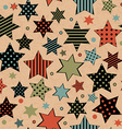 Vintage seamless with stars vector image