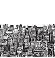 Vintage with Hand drawn big city vector image