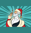 elegant santa claus and candy vector image