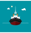 Tugboat for towage and mooring of other courts vector image