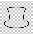 Top hat sign Line icon vector image