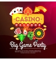Welcome Casino Poster vector image