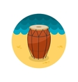Drum flat icon vector image