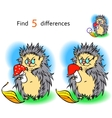 Find 3 differences hedgehog vector image