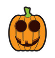 isolated happy jack-o-lantern vector image