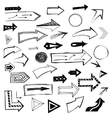 Set of handdrawn arrows on white background vector image