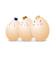 Three eggs vector image