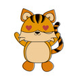 tiger with heart eyes cute animal cartoon icon vector image