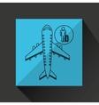 travel flying concept traveler baggage design vector image