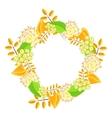 Autumn floral bouquet wreath vector image