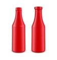 Set of Ketchup Bottle for Branding without label vector image