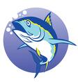 tuna in deep blue sea vector image