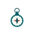 flat cartoon compass nautical equipment vector image