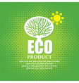 eco product vector image vector image