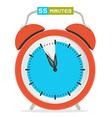 55 - Fifty Five Minutes Stop Watch - Alarm Clock vector image