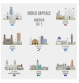 World Capitals vector image vector image
