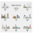 World Capitals vector image