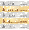 merry christmas business banners snow and stars vector image