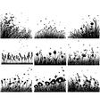 Grass silhouettes backgrounds vector