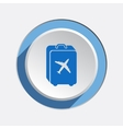 Airport baggage icon Hand luggage for traveling vector image