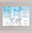 design brochure templatethe blue hexagon vector image