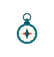 flat cartoon compass nautical equipment vector image