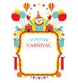 Fun Fair Carnival Circus Frame vector image